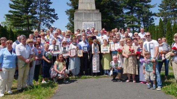 Панихида и акция «Бессмертный полк» на воинском мемориале в Залаэгерсеге