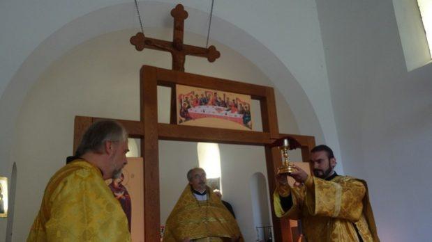 Литургия Хевизского прихода в праздник Крестовоздвижения